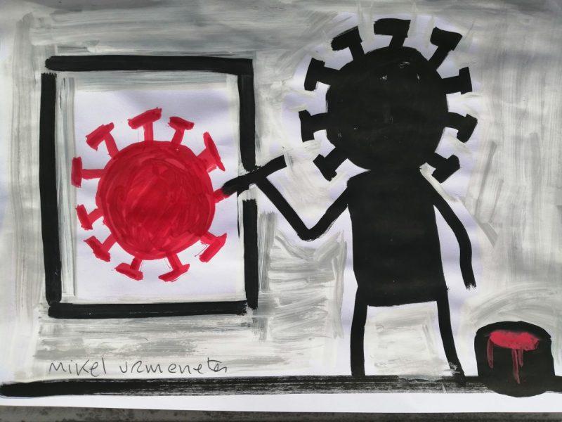 Ilustración coronavirus - Mikel Urmeneta