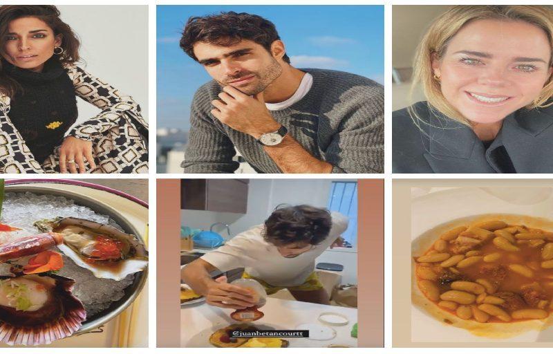 Collage famosos y comida