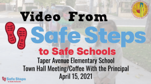 Video from Taper's Town Hall on