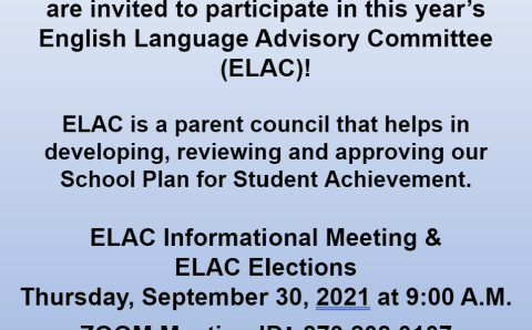 Join Taper's English Language Advisory Committee (ELAC)