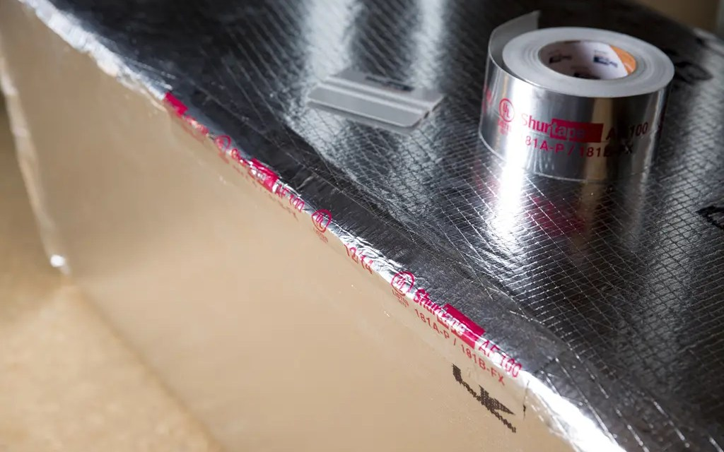 What parts of an HVAC system require tape?