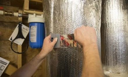 How is tape used to seal reflective insulation on HVAC systems?