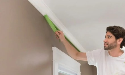 How do I protect the walls when painting the ceiling?