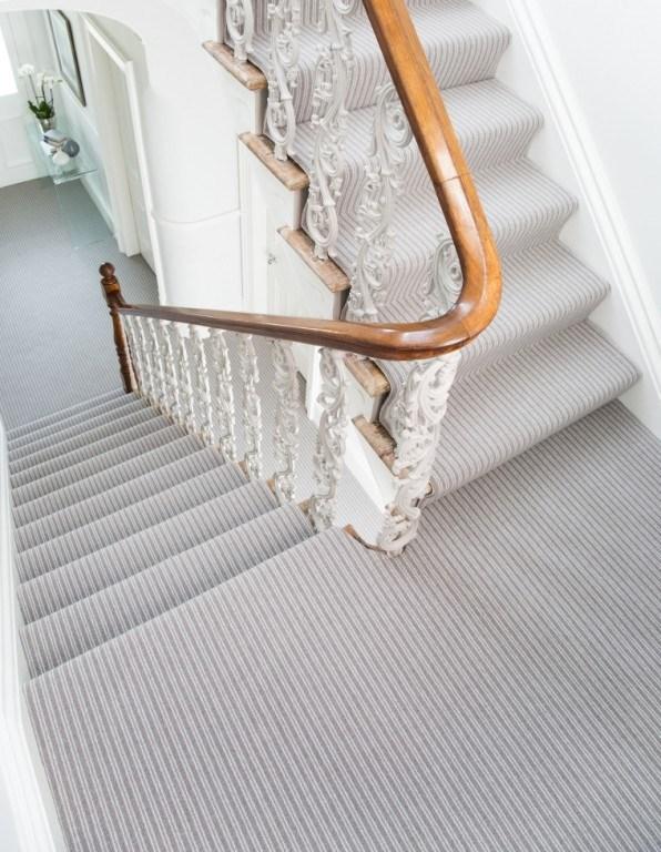 Leo Loop Pile Carpet Tapi Carpets Floors | Grey Herringbone Carpet Stairs | Antelope | Victorian | Middle Stair | Roger Oates | Blue