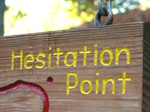 Image of Hesitation Sign - how to state your price confidently