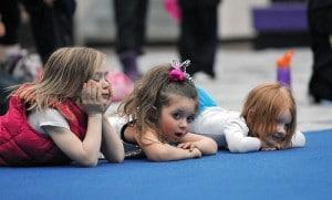 Little girls waiting