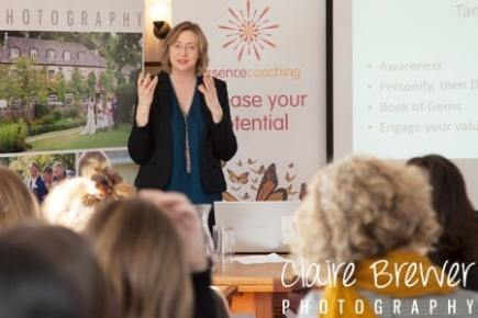 Hilary Lees, Essence Coaching - Confident speaker at a networking event