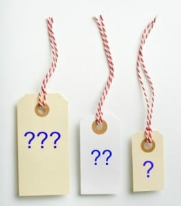 3 Price Labels With Question Marks - pricing mistakes
