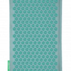 tapis champ de fleurs turquoise