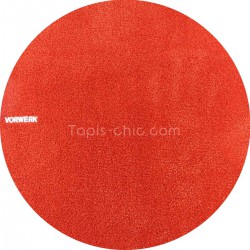 tapis rond orange pas cher 150cm 200cm