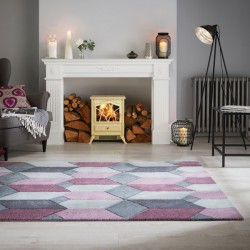 tapis violet pas cher clair mauve ou