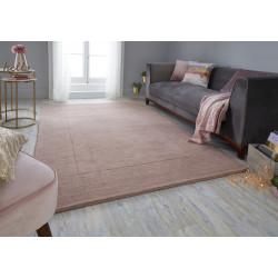 tapis classique laine rose poudre sienna