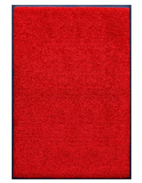 tapis prestige d interieur fibre nylon uni rouge rectangulaire 120x180cm