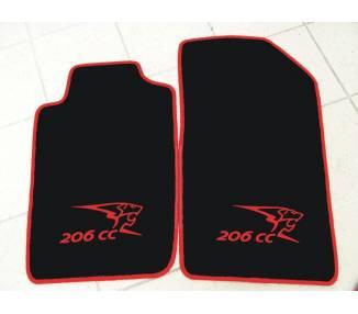 tapis de sol pour peugeot 206 cc