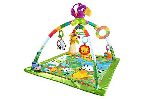 fisher price tapis musical d eveil de la jungle pour bebe avec plus de 10 jouets et activites musique et lumieres
