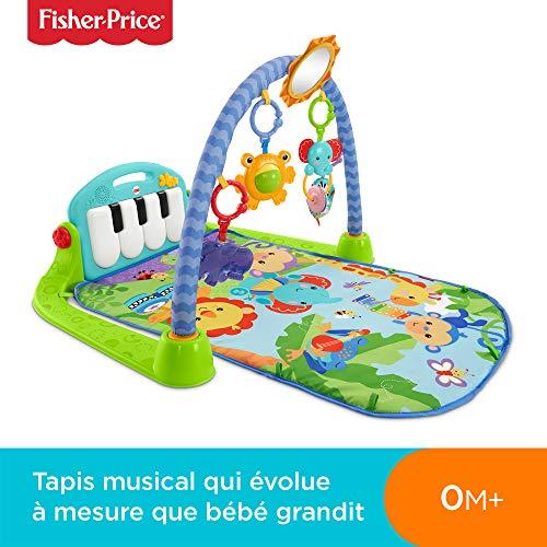 fisher price tapis musical d eveil et d activite piano pour bebe aire de jeu avec 4 modes des la naissance bleu