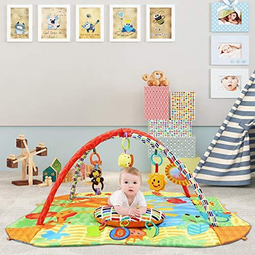 leogreen tapis d eveil pour bebe musical des la naissance tapis d eveil evolutif multifonction 5 en 1 avec 8