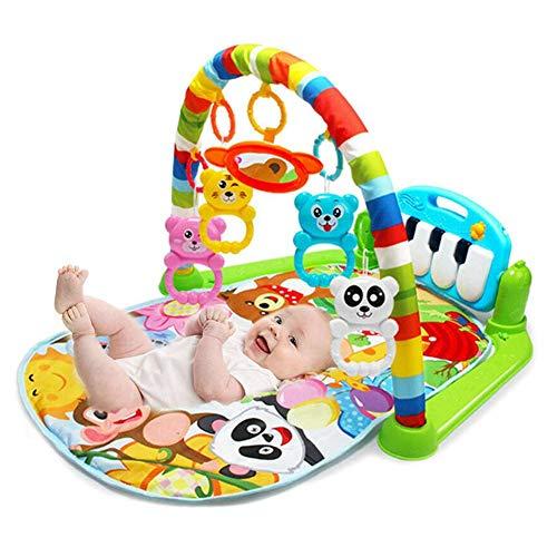 tapis musical d eveil de la jungle pour bebe 4 en 1 tapis de fitness piano jouets amovibles garcons filles