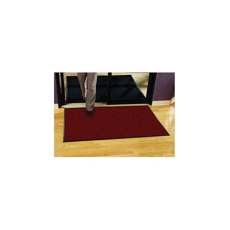 tapis d entree grand format rouge et noir platinium