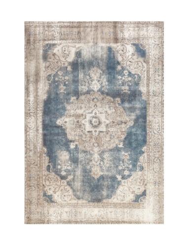 tapis vintage 8400 creme bleu arte espina