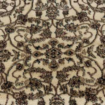 tapis de salon oriental a poil ras motif de antique ornement creme
