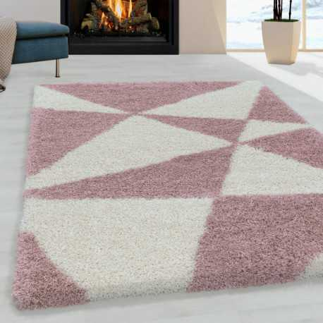 tapis de salon shaggy design a de triangle abstrait tapis design rose