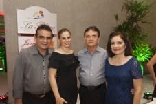 Luiz, Carisia e Paulo Teixeira, Virginia Almeida