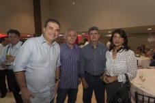 Ricardo Bezerra, Roberto Cavalcante, Gustavo Carvalho e Sueli Braga