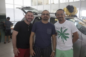Daniel Damasceno, Carlos Cavalcante e Joelson Moura
