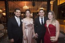 Daniel e Rafaela Simões, Nilton Aguiar e Aline Matos