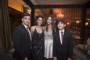 Leonardo Pinto Martins, Juliana Chulert, Marina e Daniel Chulert Martins