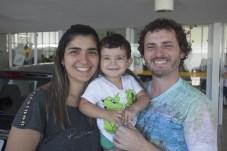 Patricia, Denis e Raul Alves