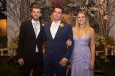 Daniel, Newton e Rafaela Basto