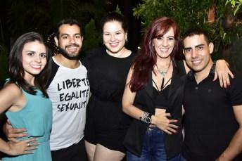 Camila Fasanha, Victor Bezerra, Samata Viana, Cris Aguiar e Wesley Queiros