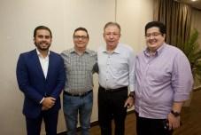 Rodrigo Nóbrega, Carlos Rubens, Ricardo Cavalcante e Yuri Torquato