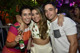 Thais Castro, Deyse Mesquita e Marcelo Antero