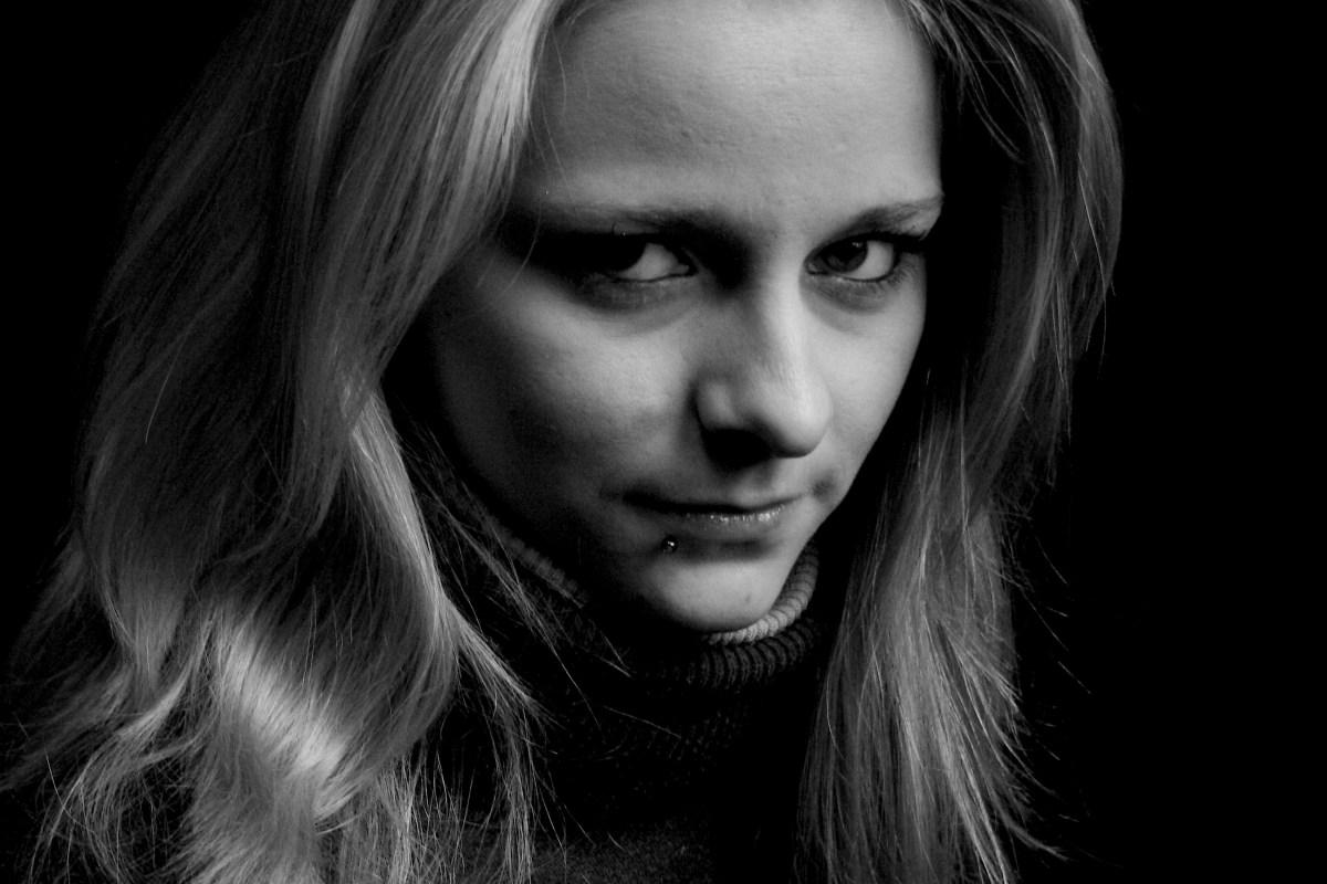 Schwarz-weiß im Porträt