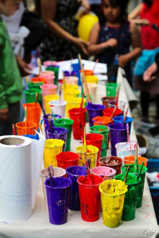 Zum Schluss die Farbpalette, mit der sich die Kinder verewigen durften. Eine coole Aktion, trotzdem bleibe ich kein Fan vom HVV *hust*