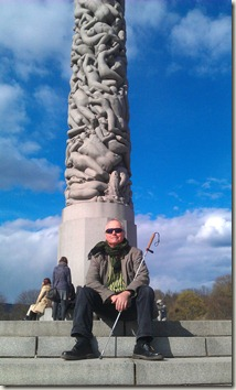 Jag i Vigelandsparken