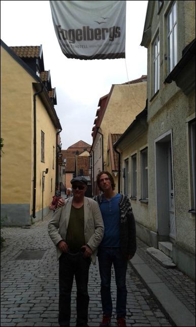 Felix och jag i Visby