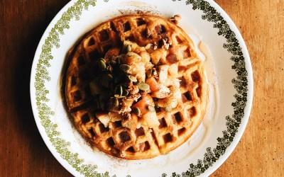 Fluffy Buttercup Winter Squash Waffles