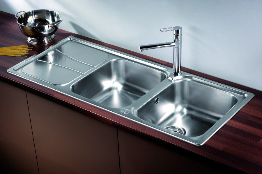 stainless steel double bowl kitchen