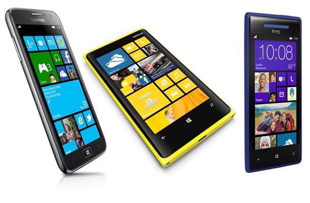 Windows Phone 8 Nokia Lumia 920 Samsung Ativ S HTC Phone 8X