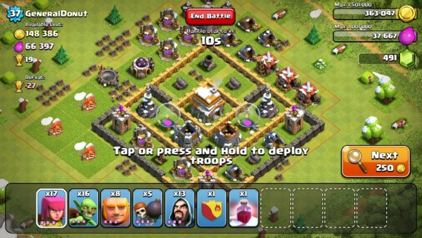 Clash of Clans Gold farming