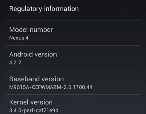 Android Jelly Bean 4.2.2