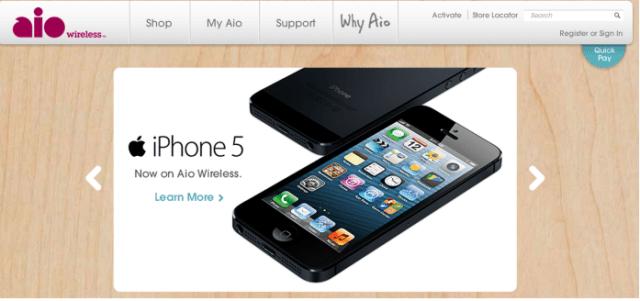 iPhone 5 on AIO Wireless