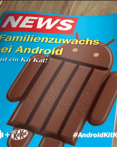 Android 4.4 KitKat Makes Headlines