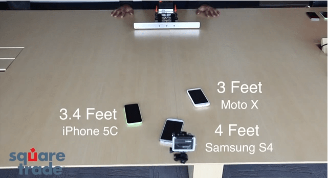 Moto X in SquareTrade Slide Test