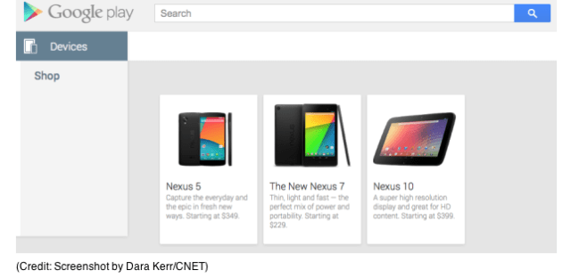 Nexus 5 Appears at Google Play Store, Quickly Removed