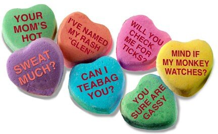 candy heart rejects saying